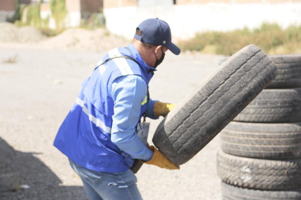Instalan Centro de acopio temporal de neumáticos en Sopeña