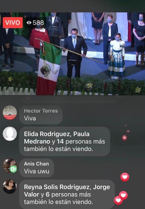 Silaoenses gritan desde su casa ¡Viva México!