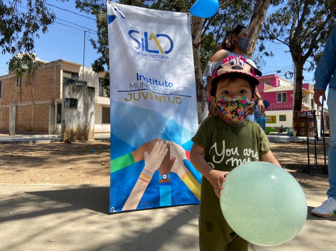 Injuve lleva actividades recreativas a infantes de la Colonia Vía II