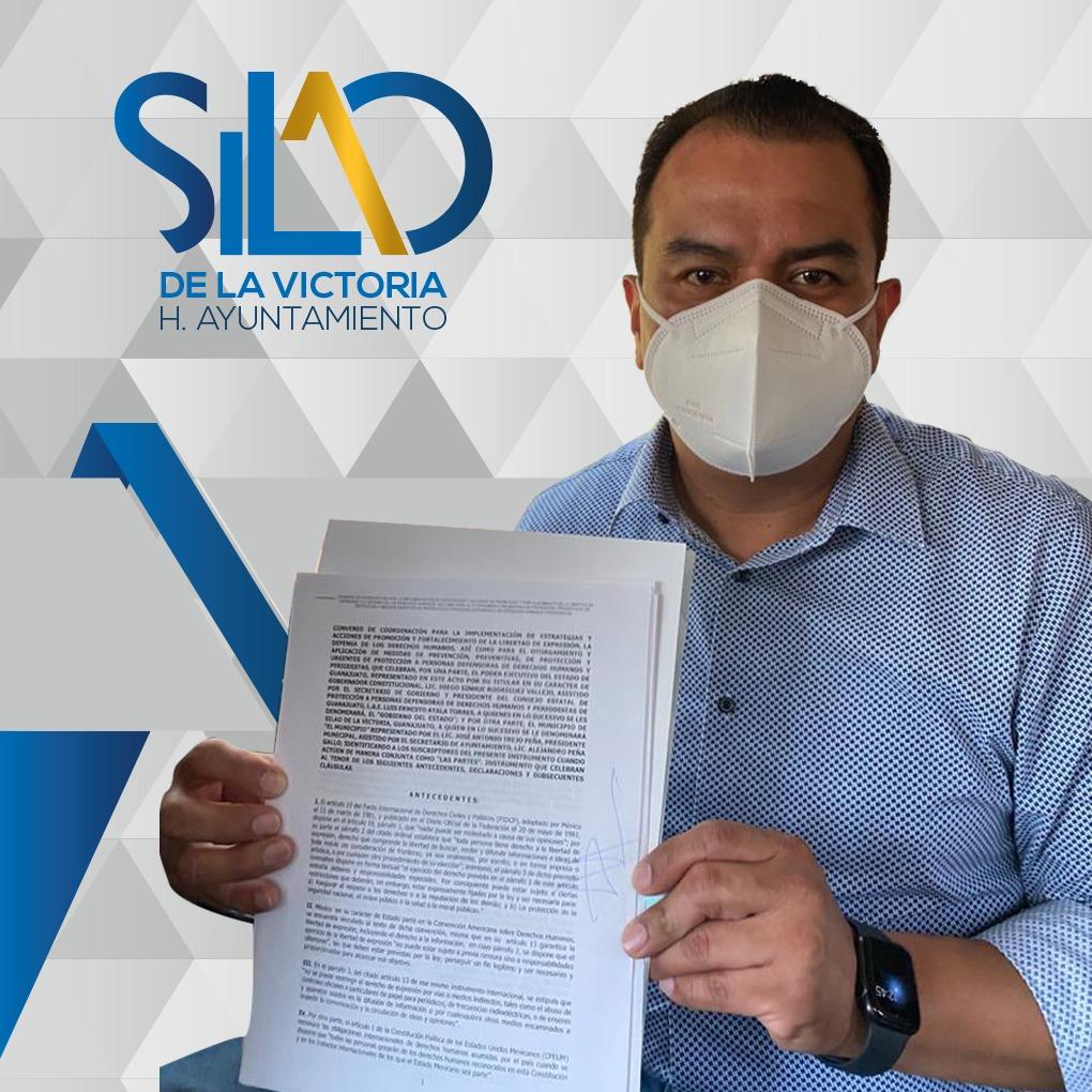 Participa alcalde de Silao en Firma de convenio para la Protección a Personas Defensoras de Derechos Humanos y Periodistas de Guanajuato