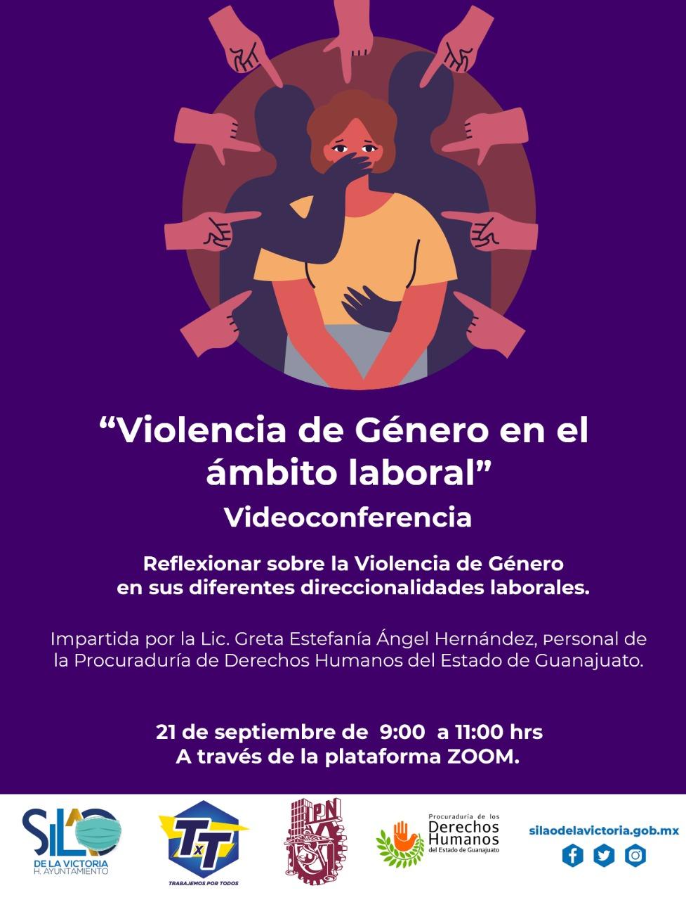 """Invitan a capacitación virtual  """"Violencia de Género en el ámbito laboral"""""""