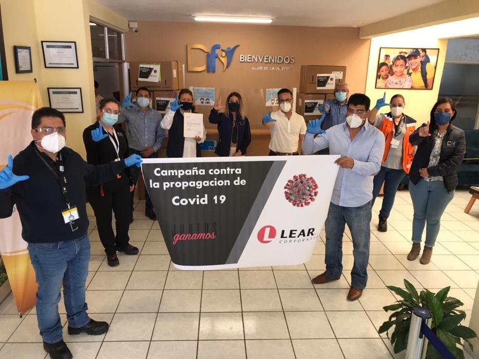 La empresa LEAR dona más de 3 mil cubrebocas a DIF Silao
