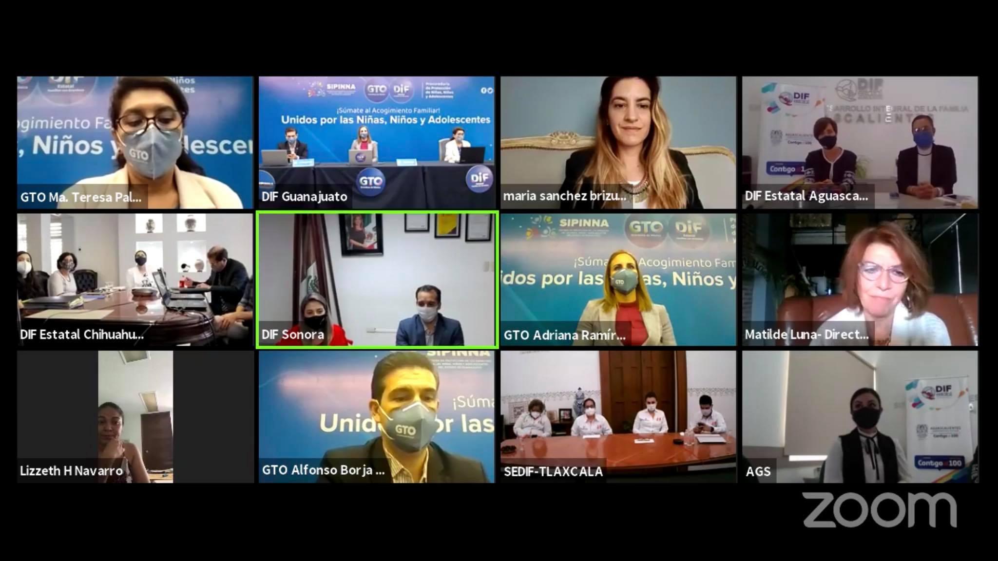 DIF Municipal participa en Encuentro Virtual de Acogimiento Familiar